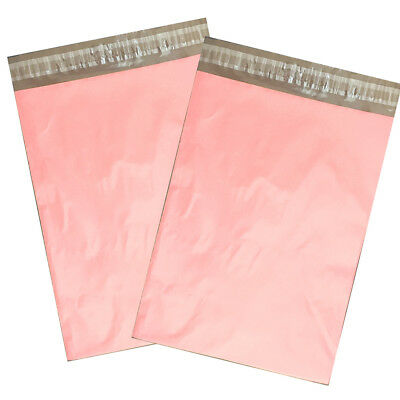 100 9x12 Light PINK Poly Mailers Shipping Envelopes Flat Couture Boutique Bags