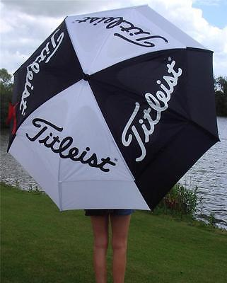 Titleist - Gustbuster  Double Canopy Tour Umbrella + FREE Titlesit Tour Tees +