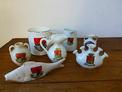 Job Lot  Crested Ware - Scarborough - Shelley, Gemma, Willow