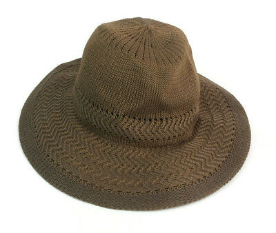 419358fdbdb Collection 18 With Adjustable Band Women s Brown Polyester One Size Panama  Hat