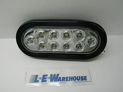 """Buyers 6-1/2"""" 10 Led Oval Back Up Light - Clear #5626310"""