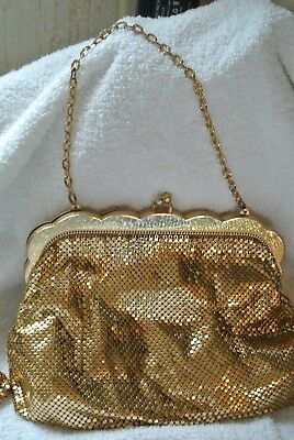 Vintage Whiting & Davis Mesh Bag With Coin Purse Gold Gloves