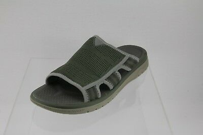 98360521964e Men s Clarks Cloud Steppers Balta Ray Olive Green Slip-on Sandals Size ...