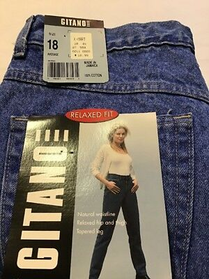 NEW Vintage Gitano Denim Blue Jeans Relaxed Fit Women's Size 18 Cotton