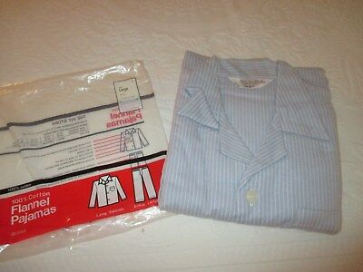 Mens Vintage Flannel Pajamas Sears Size Large New