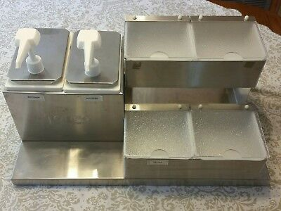 Toppo Stainless Condiment Dispenser Commercial Countertop with pumps. Food truck