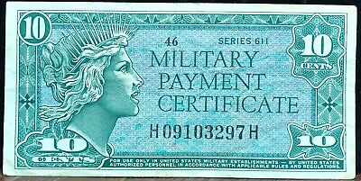 Military Payment Certificate Series 611 10 Cents