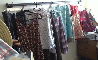 Vintage clothes skirts and dress 10 items