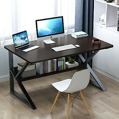 Small Corner Computer Desk Drawers Cupboard Shelves Home Office PC Table Laptop