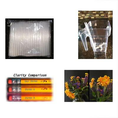 "100 2"" Wide Smoothie And Bubble Tea Fat Straws Sparkling Clear XXL"