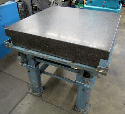 "36""x36"" Granite Surface Plate / Inspection Table 6""-Thick with Stand"