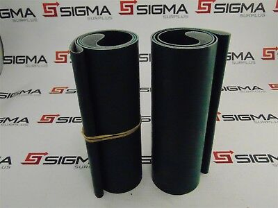"""Unbranded Green Rubber Conveyor Belting 18.5"""" x 6.25"""" *Lot of 2*"""