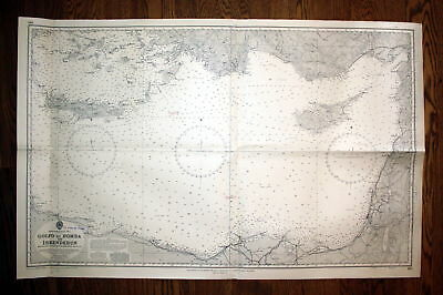 1961 Gulf of Bomba Is Kenderun Libyen Türkei Turkey map Zypern cyprus Rhodos