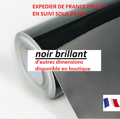 Film covering vinyle noir brillant thermoformable 152 x 30 cm film/covering