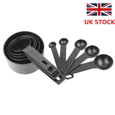 10pcs Plastic Measuring Cups and Spoons for Baking Tea Coffee Kitchen Tools