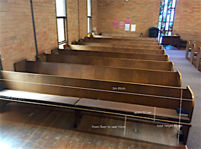 Vintage Church Pews Seats Bench Timber Retro Antique 3660mm Chair Bent Plywood