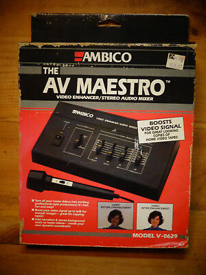 Video Production & Editing Audio For Video New Ambico Av Maestro V-0629 Video Enhancer/stereo Audio Mixer Boosts Video Sign Buy One Get One Free