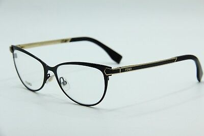 7794988175 New Fendi Eyeglasses Ff 0024 7Wh Matte Black Gold Rx Ff0024 Authentic 53-16  Rx