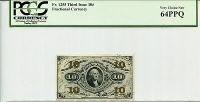 FR 1255 Fractional Specimen 10 Cents Third Issue 64 Very Choice NEW