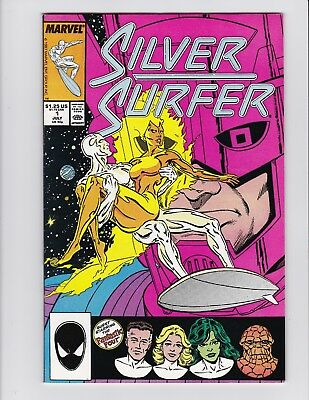 The Silver Surfer #1 Marvel Comic 1987 VERY FINE 2 LOT