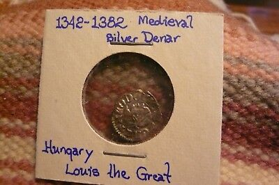 Hungary, Silver Denar 1342 - 1382 ( Louis The Great ) Medieval coin