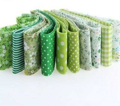Cotton Fabric Strips 10pcs Green Royal Theme Quilting Jelly Roll Cloth Material