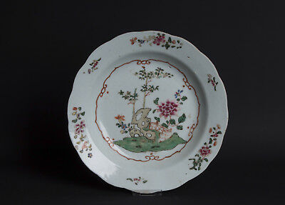 China 18. Jh. Qianlong Teller - A Chinese Famille Rose Plate - Chinois Cinese