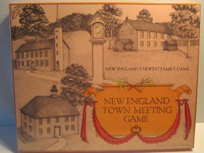 New England Town Meeting Board Game 1979 by Elizabeth Banks MacRury New Sealed!