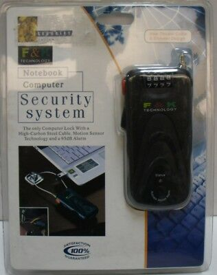 New F&K 4 Digit Re-settable Combination Lock Notebook Security System with Alarm