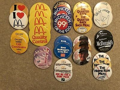 Huge McDonald's Vintage Pin/Button Lot & Assorted Promotional Items (100+)