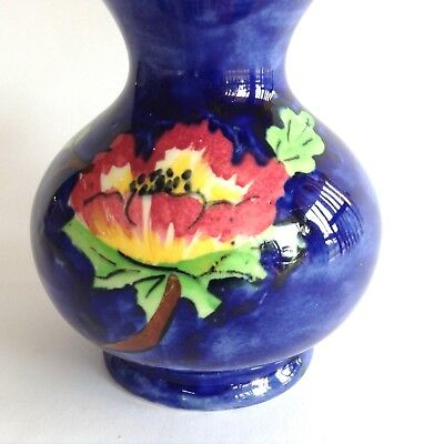 1938 -1947 KIRKLANDS Etruria Embassy Ware English Hand Painted VASE Kirkland