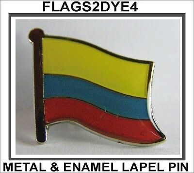 Colombia flag Colombian lapel pin badge INCLUDES AUSTRALIA POST TRACKING