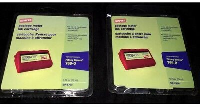 Lot Of 2 NIP Staples Postage Meter Ink Cartridges  Pitney Bowes 769-0 E700 E707