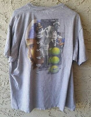 6537993f Vintage 90s NIKE Andre Agassi Tennis Tee Shirt Challenge Court Sport White  Tag