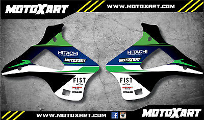 FIST style Radiator decals fits Kawasaki KX 250 1994 1995 1996 1997 1998
