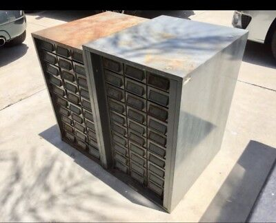 (2) HEAVY DUTY STEEL PARTS CABINETS With 30 Drawers EA