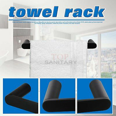 Round Hand Towel Holder Rack Rail Ring Wall Mounted Matt Black SS304 Bathroom