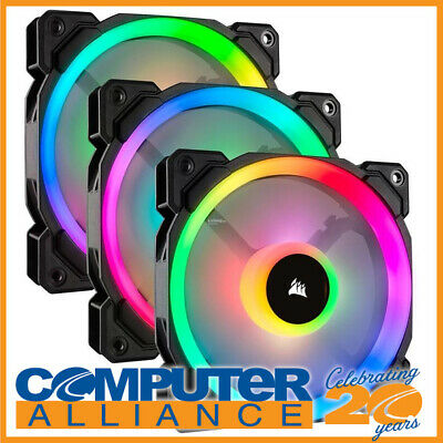 "3 x 120mm Corsair ""Light Loop Series"" LL120 RGB Case Fans PN CO-9050072-WW"