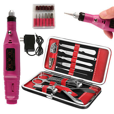 New Professional Electric Nail File Grill Manicure Tool Pedicure Machine Set Kit