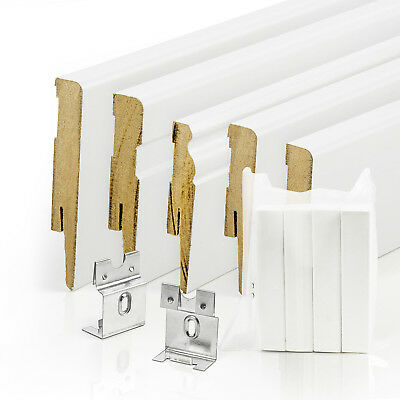 PREMIUM 70mm MDF SKIRTING BOARDS scotia floor wall trim cover white paintable
