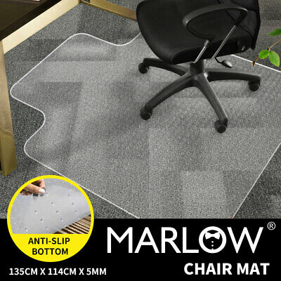 New Carpet Floor Office Computer Work Chair Mat Vinyl PVC Plastic 1350x1140mm