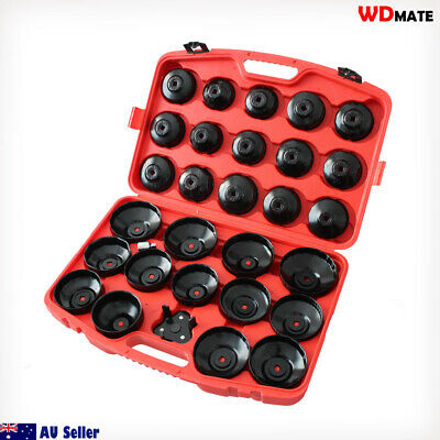 """30pc Oil Filter Cup Wrench Removal Socket set 3/8""""1/2"""" Repair 65-120MM 20003059"""