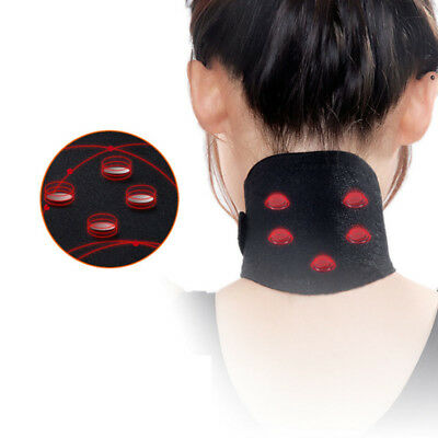 Self Heating Neck Heat Therapy Support Belt Magnetic Tourmaline Wrap Brace Pain