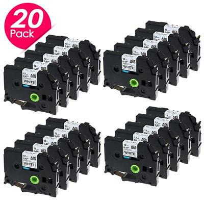 Compatible for Brother P-touch 12mm Label Tape TZ-231 TZe-231 Label Maker 20PK