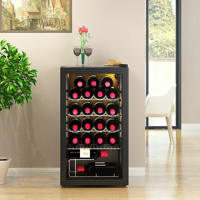93 Litres Wine Cooler 26 Bottles Drinks Chiller Refrigerator Kitchen Restaurant