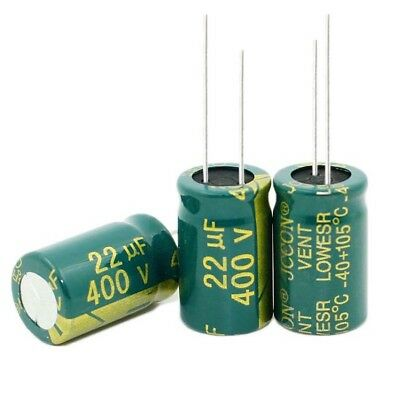 10x 400V 22uF High Frequency LOW ESR Radial Electrolytic Capacitor 13x21mm