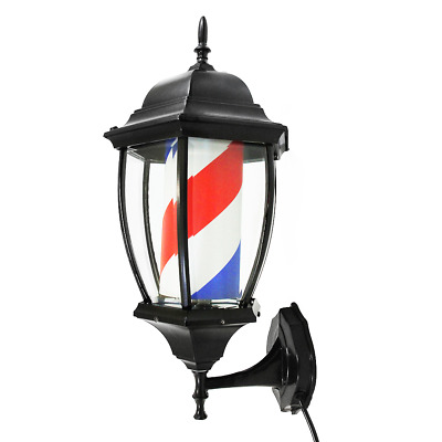 Lantern Vintage Barber Pole Stripes Classic  Design Barbers Shop Sign Rotating