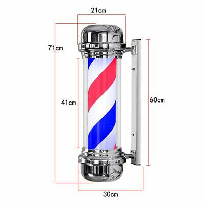 Classic Barber Pole Heavy duty Rotating Salon Sign Illuminated Outdoor use Led