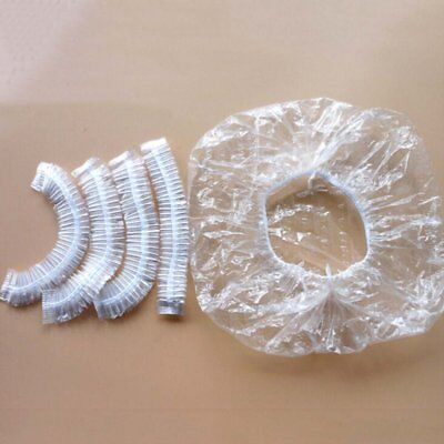 US Bathing Elastic Clear Hair Care Protector Disposable Shower Caps Hat Mask Cap