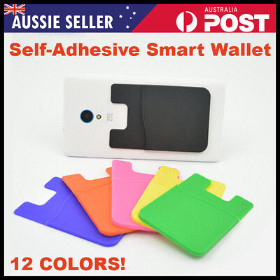 Silicone Mobile Phone Wallet Card Stick On Cash ID Credit Opal Myki Card Holder